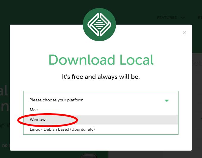 OS選択画面